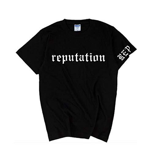 Taylor Swift Hombres Mujeres Reputación Impresión Camiseta Verano O-Cuello de Manga Corta tee Tops