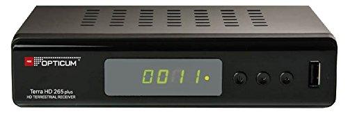 Opticum Terra HD 265 Plus DVB-T2/HEVC Full HD Receiver (zum Empfang des DVB-T2 Standards in Deutschland) schwarz