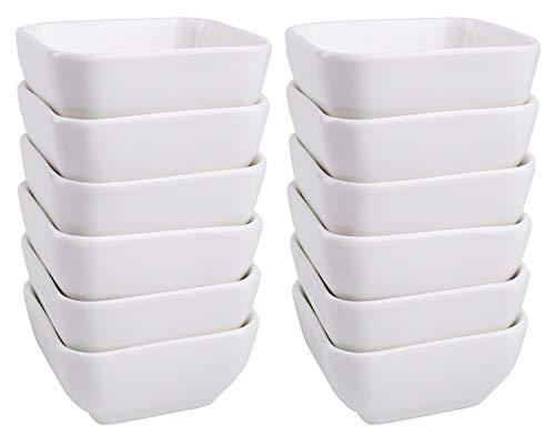 2 Packs Ceramic Dip Bowls Set