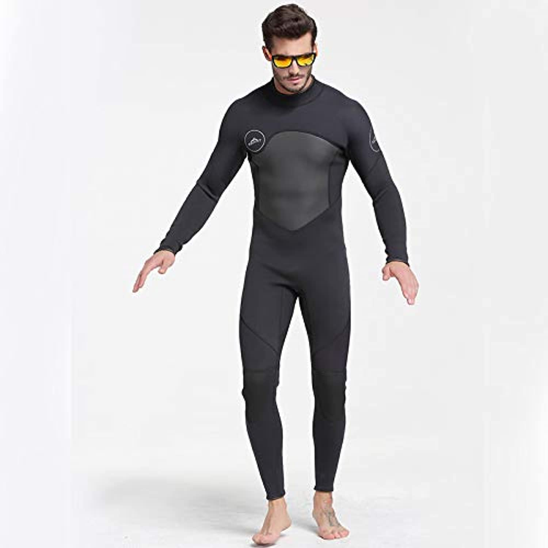 HWTP New One-Piece Neoprene 3mm Diving Suit Winter Long Sleeve Men Wetsuit Prevent Jellyfish Snorkeling Suit,L