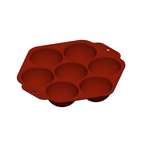 YOMOMO Bricolage Brun Sept Grille Silicone Moule à gâteau Semi-Circulaire Petits appareils Cuisine Restaurant et Bar Fournitures Moule à gâteau (Marron)