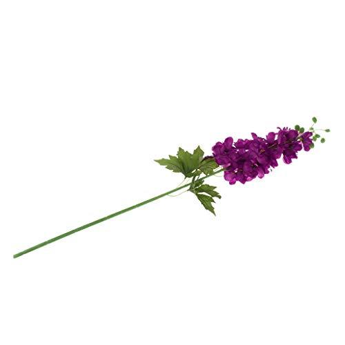 Casa della Decorazione del Fiore Fiori Artificiali in Delphinium di Seta Foglie Decorazioni Floreali for Matrimoni in Erba 8 Colori - Rosa Elegante e Bella (Color : Fuchsia)