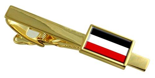 Select Gifts Reich alte Militairy Deutschland Fahne Gold Krawattenklammer graviert Personalisierte