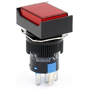 Woljay 16mm Druckschalter Schalter Druckknopf Rechteckig