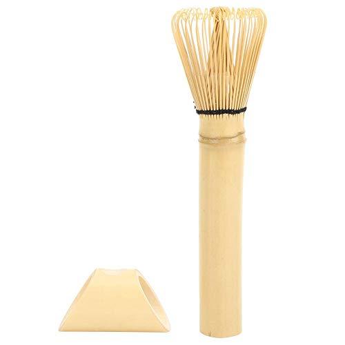 Duokon Natürlicher Bambus Chasen Matcha Grüner Tee Schneebesen Langer Griff Tragbares und langlebiges Puderpinsel-Werkzeug(Lila)