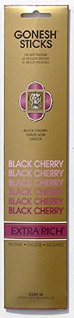 パッケージ控えめなメンダシティGONESH インセンス エクストラリッチ スティック BLACK CHERRY 20本入