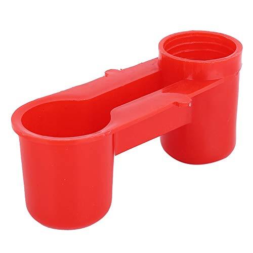 PVC-Vogeltrinkbrunnen, Vogeltrinkwerkzeug, 20 Stück Glatter Behälter Red Fountain Trinkerausrüstung für Wasserversorgungsvögel