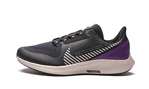 Nike Youth Air Zoom Pegasus 36 Shield GS BQ5705 001 - Size 6.5Y Black/Purple