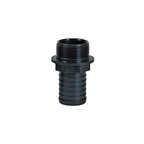 Ribimex PRRAC112X40 - Empalme ranurado, plástico, M, 1' 1/2/40, Negro, 9 x 6 x 6 cm
