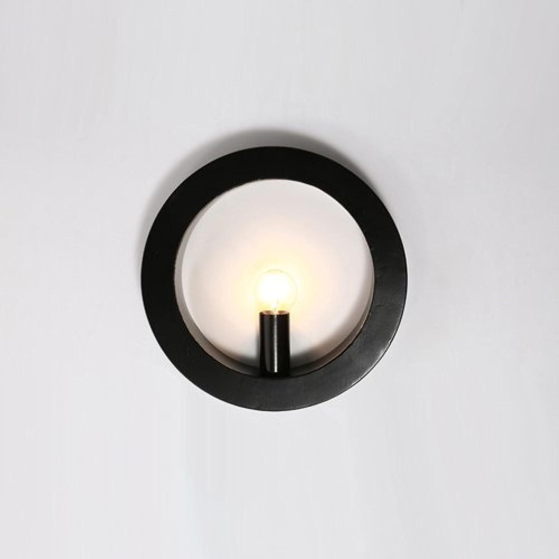 Xsj Retro- Wandlampekerzenlichtschlafzimmerkorridorgangtreppen-Nachttischwohnzimmertreppenhauscafé-Wandlampe Runde Wandlampe,Weiß