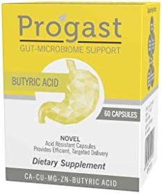 Progast Butyric Acid Capsules 60 Capsules Gastrointestinal IBS Supplement 2 Month Supply Reduces product image