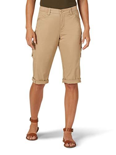 Lee Damen Flex-to-Go Relaxed Fit Cargo Skimmer Capri Pant Unterhose, Tannin, 36 Zierlich