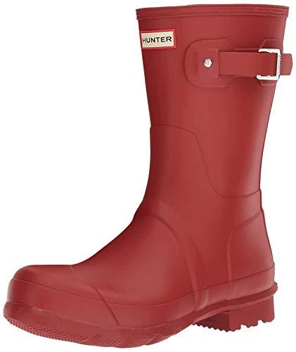 Hunter Original Short Gloss W23700 - Stivali di gomma unisex adulto, Rosso (Rosso militare.), 38.5 EU