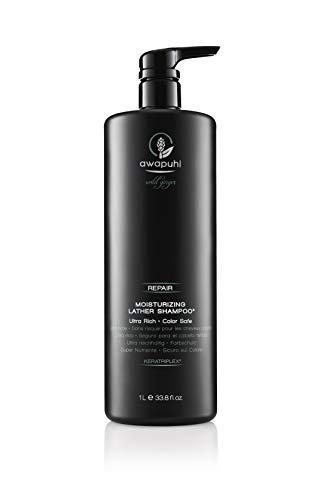 Paul Mitchell Awapuhi Wild Ginger Moisturizing Lather Shampoo - Feuchtigkeits-Shampoo für trockenes, strapaziertes Haar, Haarpflege in Salon-Qualität, 1000 ml