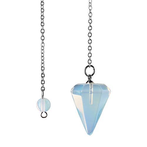 Amuleto de Piedra Natural de curación de Cristal Colgante de meditaci