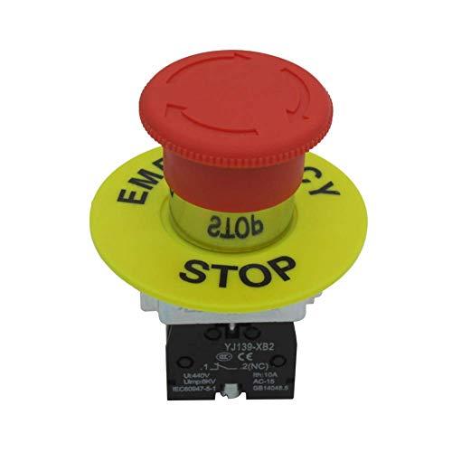 Tais/22 mm 1 NC SPST Latching Action Interruptor de botón