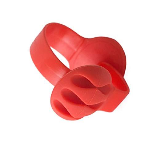 Organizador de escritorio de silicona con peso no adhesivo, color rojo
