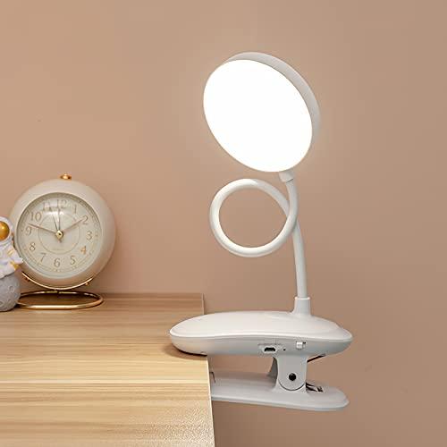Weskjer Lámpara de Escritorio LED Flexo Pinza, Luz Lectura Lampara Escritorio, Lampara de Mesa Regulable con Control Táctil para el Hogar, Sala de Estar, Dormitorio, Oficina