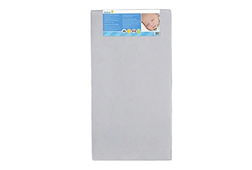 Safety 1st Heavenly Dreams White Crib & Toddler Bed Mattress for Baby & Toddler, Water Resistant, Lightweight, Hypoallergenic, Green Guard Gold Certified