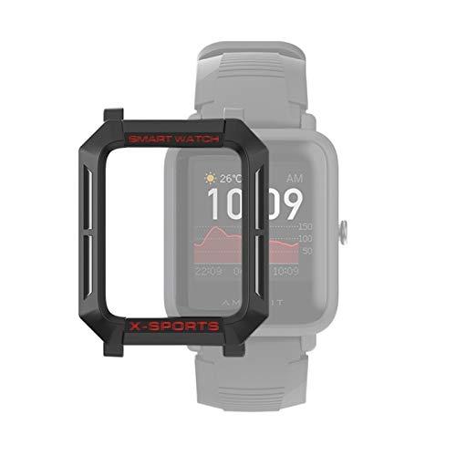 YANTAIAN para Huami Amazfit Bip Lite Versión 1S / Caja Protectora Bip S Inteligente Reloj de TPU, Color: Negro Gris Rojo