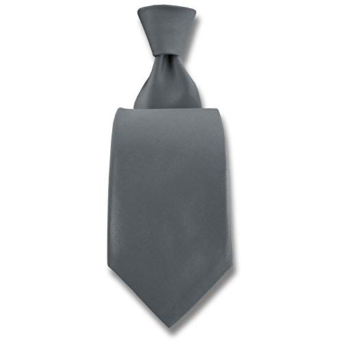 Robert Charles - Cravate Satin Argent Fines : 7.5cm