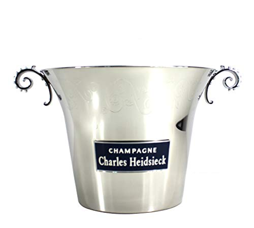 Charles Heidsiek Champagner Flaschen-Kühler aus Edelstahl Design ~mn 928 1113