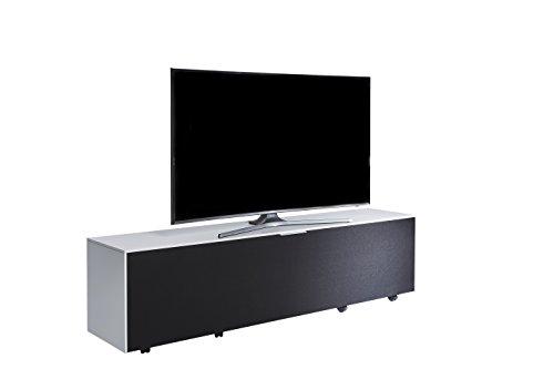 Jahnke Meuble TV TL 518 Sound, Bois, Blanc, 40 x 180 x 45 cm