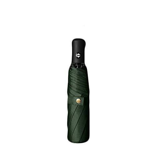 ZHANGYY Dreifacher automatischer Regenschirm Faltbarer Klappschirm Verstärkter ergonomischer Griff Kompakter, langlebiger und Leichter niedlicher Reiseschirm