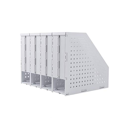 Ablagesystem für den Schreibtisch Folding Datei-Frame-File Folder Storage Box Teleskopbücherregal Desktop-Buch-Standplatz Einfaches Desktop Office Vertikal Dateiinformationen rack Ordner-Ablagesysteme