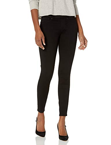 Signature by Levi Strauss & Co. Gold Label Women's Totally Shaping Pull-On Skinny Jeans, Noir-Waterless, 10