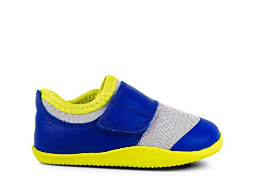 Bobux Xplorer Dimension II Trainer Babyschuhe, Mehrfarbig - Blau - Neon - Größe: 21 EU