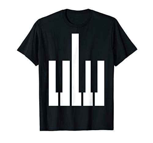 Middle Finger Piano Keys Design, Pianist Piano Player Gift T-Shirt