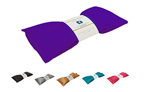 Eye Pillow Vacation Organic Flax Seed Filled Lavender Eye Pillow, Royal Purple