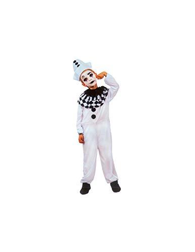 DISBACANAL Disfraz arlequín Blanco niño - -, 7-9 años