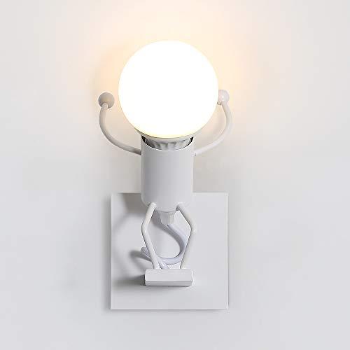 Creativo Lampada da Parete, Retro Applique da Parete, E27 Vintage Metallo Lampada da Applique Illuminazione per Bar, Camera da Letto, Ristorante, Corridoio