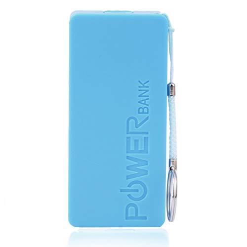 Lorenlli Cargador USB Cargador de batería de Respaldo Externo portátil 2 * 18650 Caja del Banco de energía de la batería para teléfonos
