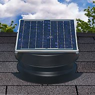 Solar Attic Fan 36-watt - Black - with 25-year Warranty - Florida Rated by Natural Light