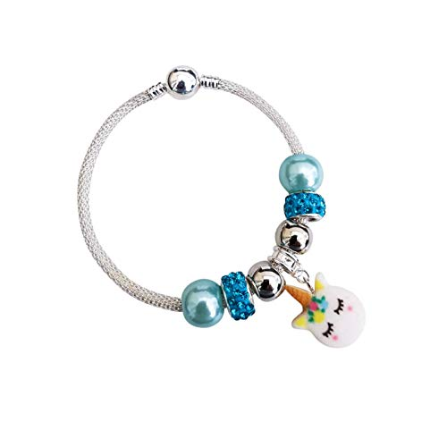 Girls Unicorn Charm Bracelet Birthday Christmas Gift Present (15)