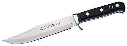 PUMA Erwachsene Bowie-Messer Tucson, Stahl 1.4125, rostfrei, Vollerl, Ebenholz-Griffschalen,...