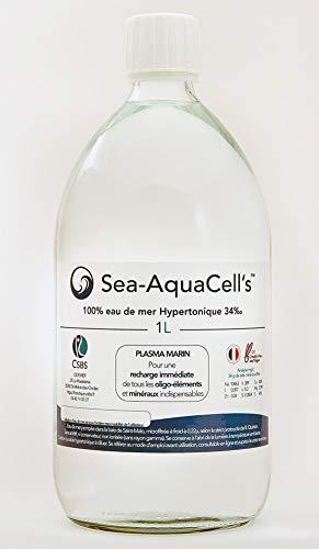 Eau de mer buvable hypertonique (1) selon le protocole de René Quinton Sea Aquacell's