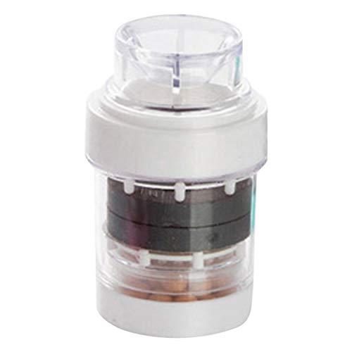 pedkit - Purificador de Filtro de Agua de Grifo Filtro de Agua de Grifo de Cocina magnético Filtración Piedra de Maifan Elimina el Cloro Flúor Metales Pesados Suavizador de Agua del Grifo Filtro