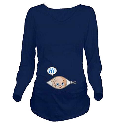Allence Lustige witzige süße Umstandsmode | Umstandsshirt mit Motiv für die Schwangerschaft | T-Shirt Schwangerschaftsshirt, Kurzarm, Baumwolle Schwangerschaft Tops (XL, Weiß3)