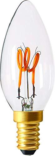 Girard Sudron 716646-LED gloeilamp, kaarsvorm, C35, E14, SES, kleine Edison-fitting, 35 mm, 120 lumen, dimbaar, 3 W, helder/warm wit