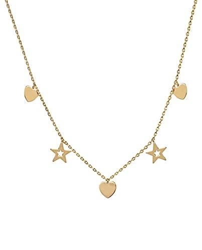 VIDAL & VIDAL Collar colección Trendy de Plata acabada en Oro 18Kt