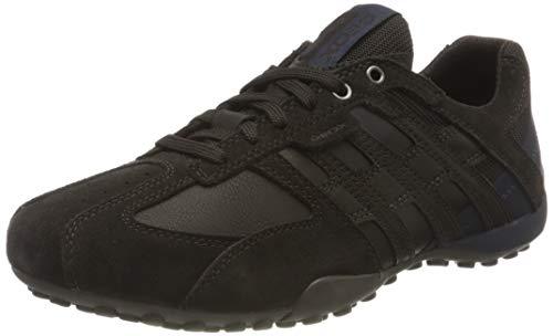 Geox Mens Uomo Snake K Sneaker, Dk Brown/Chocolate, 46 EU