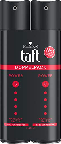 Taft Haarlack Power Bis zu 72h Power Halt Halt 5, 2er Pack, 500 ml
