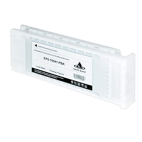 Tintenpatrone kompatibel für Epson SureColor T6941 C13T694100 SC-T 3000 3200 5000 5200 7200 3270 5270 7270 D-PS POS Series W/O Stand- Photo Schwarz 700ml