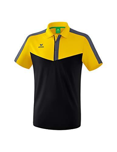 Erima Herren Squad Sport Poloshirt, gelb/Schwarz/Slate Grey, M