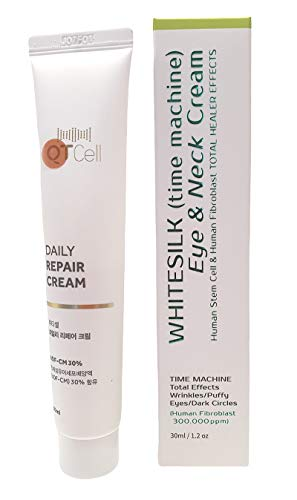 【WHITESILK┃300,000ppm┃Double Human Stem Cell】 {Absolute Firming Neck & Eye Cream} ┃Clinically Proven Anti-Aging Lift & Repair Effect┃By ◈Human Stem Cell & Human Fibroblast ◈ Hyaluronic + NEUROPEPTIDE After LASER TREATMENT(30ml/1.2oz)