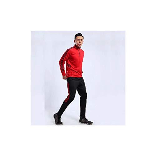 Fútbol ropa de entrenamiento para hombres y mujeres jersey rojo, los niños medias deportivas traje de fitness entrenamiento de fútbol ropa de poliéster material de poliéster (2XS-4XL), 123, color, extra-small